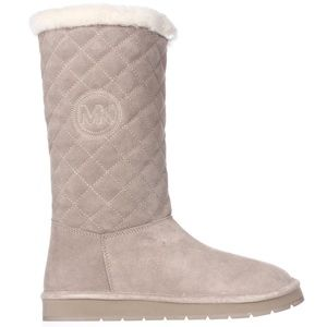 Michael Kors Quilted Winter Boots in Sandy Khaki